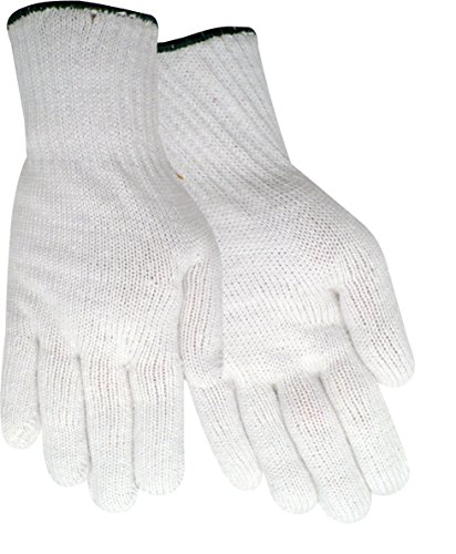 Red Steer 1120-L Heavyweight Multi-Purpose String Knit Full-Fingered White Glove (Set of 3 Pairs) (Heavyweight Reversible Gloves)
