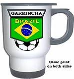Garrincha (Brazil) Soccer White Stainless Steel Mug