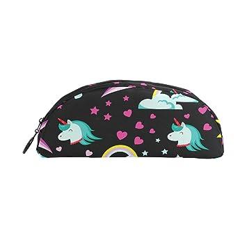 BONIPE - Estuche de unicornio colorido para bolígrafos, monedero, maquillaje cosmético para bandejas de oficina: Amazon.es: Oficina y papelería