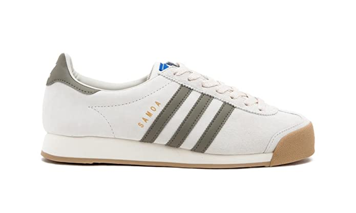 adidas Samoa VNTG, Chaussures de Sport Homme - Vert - Multicolore (Caqtra/Blatiz/Gum4), 42 EU