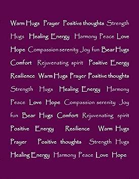 Aubergine King Blanket Get Well Soon Gift for Women Men Chimo Chanasya Warm Hugs Positive Energy Healing Thoughts Super Soft Sherpa Microfiber Comfort Caring Violet Purple Gift King Bed Blanket