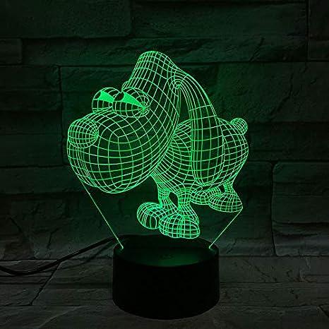 Luz de noche Led 3D Ilusión Decoración de la habitación 7 ...