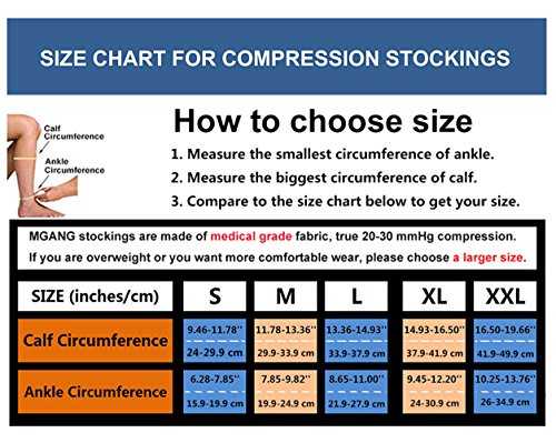 Compression Socks, Open Toe, Medical 20-30 mmHg Graduated Compression Stockings for Men Women, Knee High Compression Sleeves for Pregnancy, Varicose Veins, Relief Shin Splints, Nursing, Edema, Sports by MGANG (Image #7)