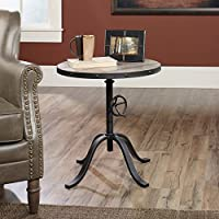 Pedestal Table in Mixed Media Finish