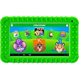 School Zone Little Scholar Best Kids 7 Tablet, Ages 3-7, PreK-1st Grade, Bumper, Android, Quad-Core, 16 GB, Wi-Fi, Front & Rear Camera, Green (08611)