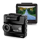 HP Dash Cam for Cars HD 1440P Built-in GPS DVR Vehicle Dashboard Digital Car Camera Recorder, High Video Quality, Super Night Vision, G-Sensor, Parking Guard, Loop Recording Dash Camera