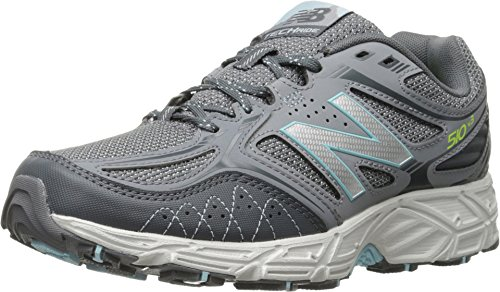 New Balance Women's WT510V3 Trail Shoe, Grey/Freshwater, 7 B US