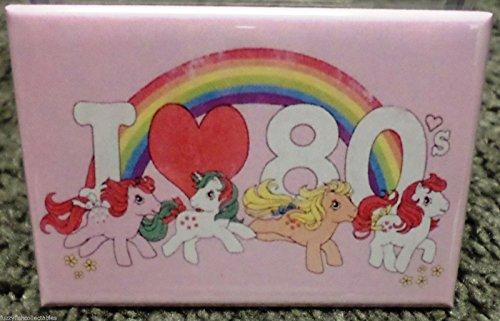 I Love the 80's 2 x 3 Refrigerator Locker MAGNET Heart My Little Pony MLP ()