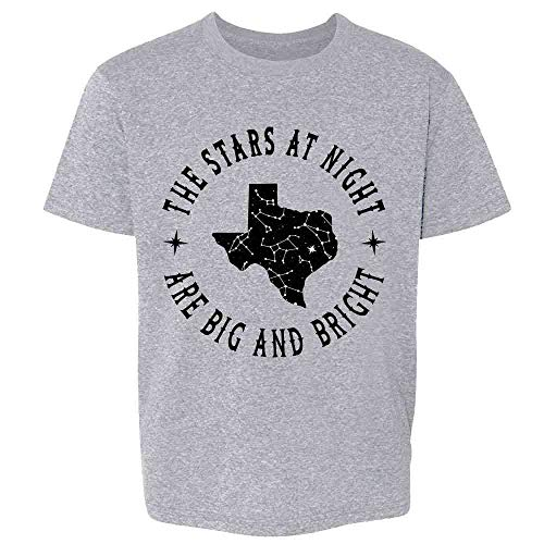 Texas Stars at Night are Big and Bright Song Sport Grey 3T Toddler Kids Girl Boy T-Shirt