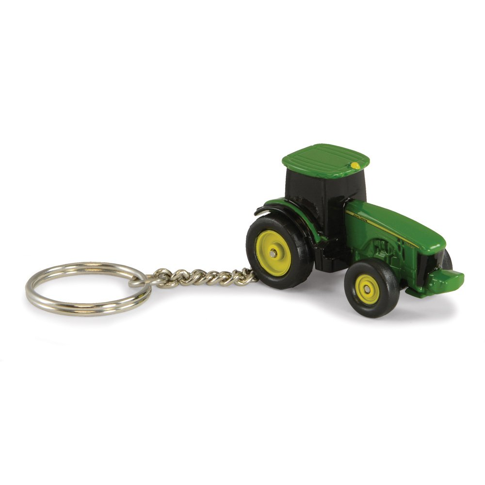 ERTL Toys John Deere 8R Tractor Key Chain Getting Fit 036881453222
