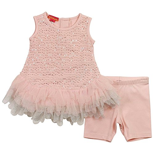 Kate Mack Baby Girl's Infant Twinkle Toes Tunic & Legging, Pink - Size (Twinkle Toes Clothes)