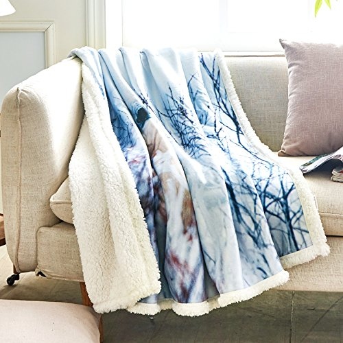 Fassbel Sherpa Throw Blanket Digital Printing Reversible Sup
