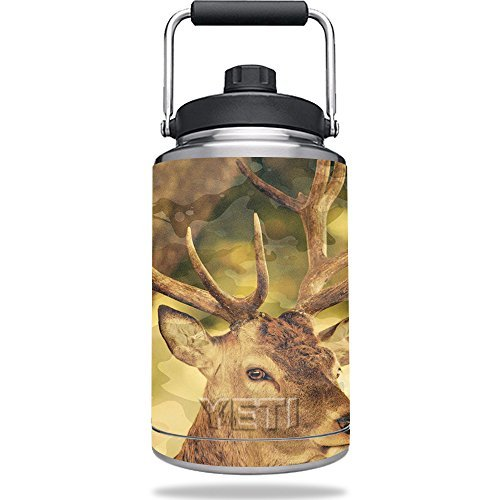 MightySkins Skin Compatible with Yeti One Gallon Jug - Deer Camo | Protective, Durable, and Unique Vinyl Decal wrap Cover | Easy to Apply, Remove, and Change Styles | Made - 1 Deer Gallon Jug