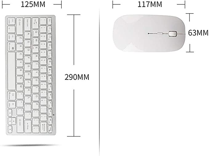 Bluetooth Technology Connectivity 10 Meters Full Size USB Ergonomic Silent Keyboard Mouse JSX Bluetooth Keyboard and Mouse Combo