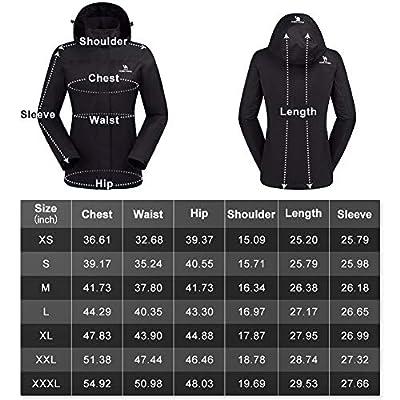 CAMEL CROWN Womens Rain Jacket Waterproof Coat with Hideaway Hood: Clothing