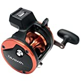 Cheap Daiwa Sealine SG Line Counter Reels Model SG27LC3B with Counter Balanced Handle, Black and Orange Finish