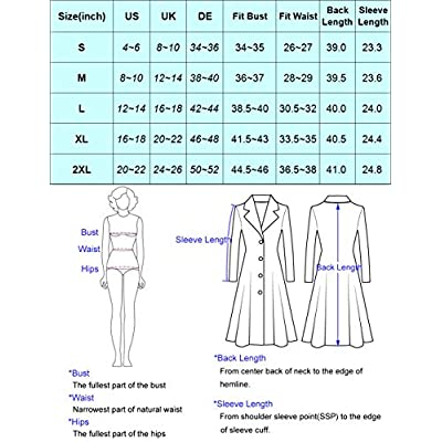 CURLBIUTY Women Swing Double Breasted Wool Pea Coat Winter Long Overcoat Jacket: Clothing