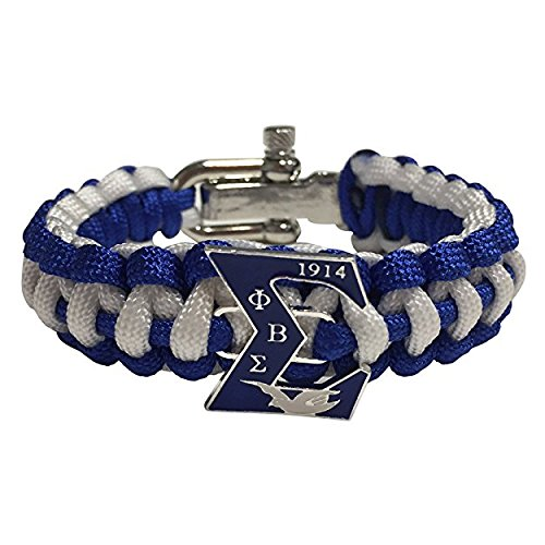 Phi Beta Sigma Fraternity Paracord Survival Bracelet With Adjustable Clasp