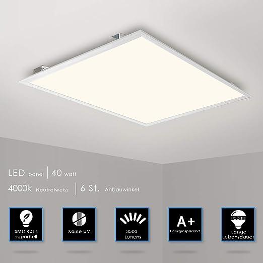 LED Einbau Raster Decken Lampe Leuchte 62x62cm 40W Büro Beleuchtung Ultraslim