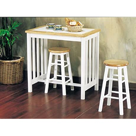 3pc Pack Tile Top Breakfast Table Set AC 012140