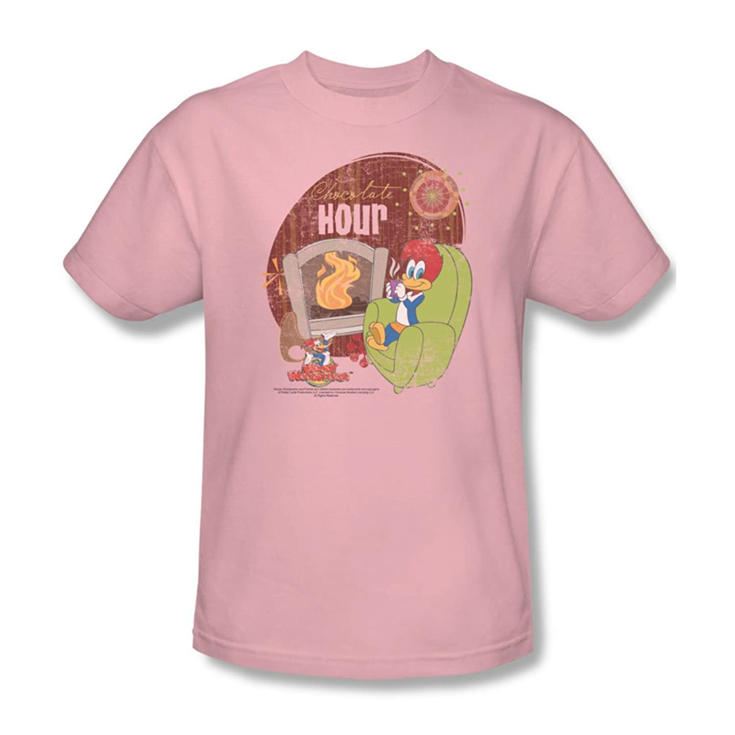 Woody Woodpecker - Mens Chocolate Hour T-Shirt In Pink