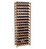 Creekside 96 Bottle Modular Wine Shelves (Redwood) by Creekside - Exclusive 12-inch deep design, bottle necks don't stick out! Quality, high grade pine., 12'', Redwood