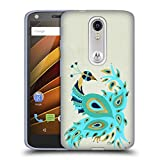 Official Cat Coquillette Peacock Gold Birds 2 Soft Gel Case for Motorola Moto G (3rd Gen)
