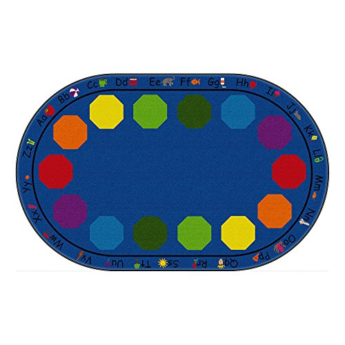 Sprogs Kids Alphabet Seating Rug - Oval, 7' 6