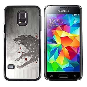 EJOY---Cubierta de la caja de protección la piel dura para el / Samsung Galaxy S5 Mini, SM-G800 / --GOT Lobo