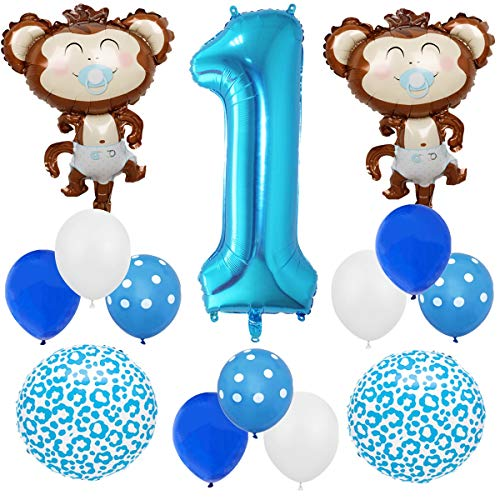Animal 14pcs Balloon Pack for 1st Birthday Baby Shower Party Decorations Supply - 40