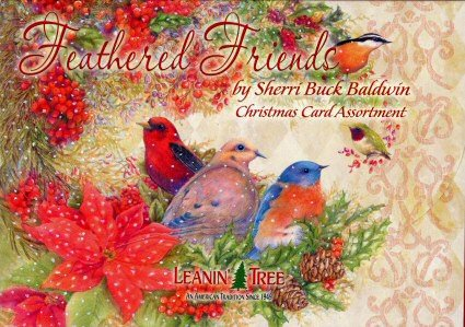 - Sherri Buck Baldwin Feathered Friends Birds 20 Christmas Card Assortment #90257