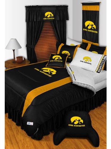 NCAA Iowa Hawkeyes - 5pc BED IN A BAG - Queen Bedding Set by NCAA