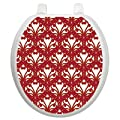 Toilet Tattoos Queen Ann's Lace Red and Gold Decorative Applique for Toilet Lid