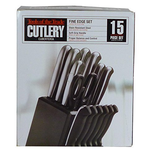 Tools of the Trade Fine Edge Stainless Steel 15-Piece Cutlery Set