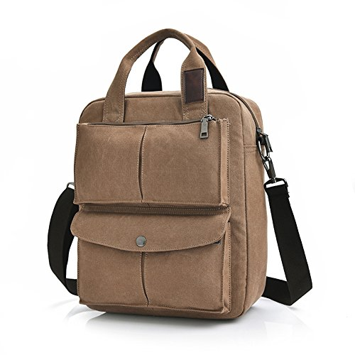 MiCoolker Leisure Crossbody Tote Bag College Students Shoulder Bag Messenger Purse Travel Handbag Brown