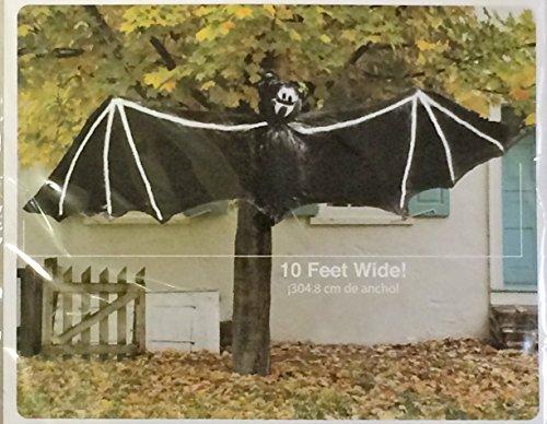Walmart Halloween Decorations - Giant Hanging Bat (10 Feet Wide). -