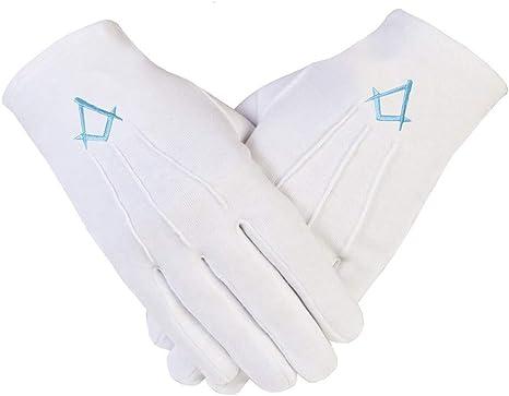 Freemasons Masonic XL-11 - Guantes de algodón, color blanco ...