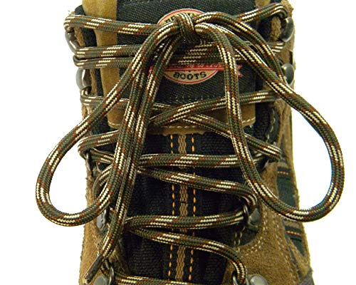 2 Pair - Oxford Chukka Work Shoe proMAX(tm) Boot Shoelaces Extra Large Diameter 7/32 Inch Thick (42 Inch 107 cm, Forest Camo)