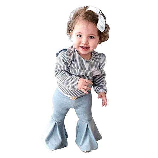 Girls' Clothing (newborn-5t) Clothing, Shoes & Accessories Strong-Willed Baby Girl Jeans And Top Set 3-6months