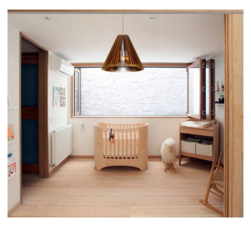 Light-S 北欧ミニマリストクリエイティブアートシャンデリアポストモダンレストランバーリビングルーム寝室のベッドサイドランプ木製の装飾ペンダントライト   B07TTBD2JK