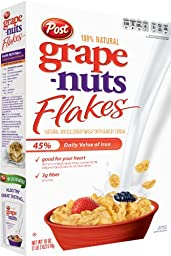 Post Grape Nuts Flakes Cereal, 18-Ounce Boxes (Pack of 5)