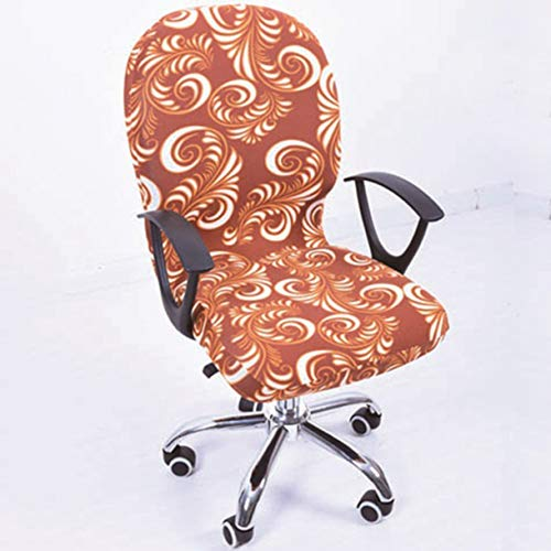 TANGOGO Elastic Spandex Office Chair Cover Seat Covers Computer Chairs Stretch Rotating Chair Covering Computer Desk Seat Slipcover (Chair Cover Rolling)