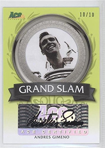 Andres Gimeno #10/10 (Trading Card) 2013 Ace Authentic Signature Series - Grand Slam Autographs - Lime Green (Signature Grand Series)