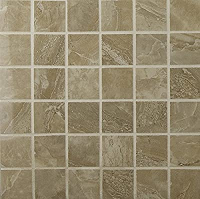 Pietra Royal 12 In. X 12 In. X 10 mm Polished Porcelain Mesh-Mounted Mosaic Floor And Wall Tile, (8 sq. ft., 8 pieces per case)