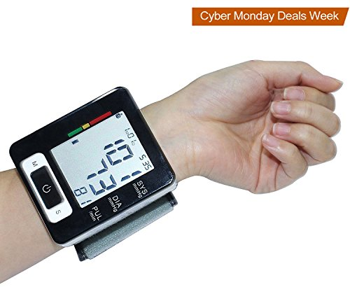 Wrist Blood Pressure Monitor Euph Digital BP Monitor with Memory (Large Image)
