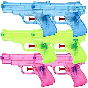 6 Pezzi Pistole d'acqua Pistole a spruzzo Set 13 cm Festa Di Compleanno Bambini Regalo 7 spesavip