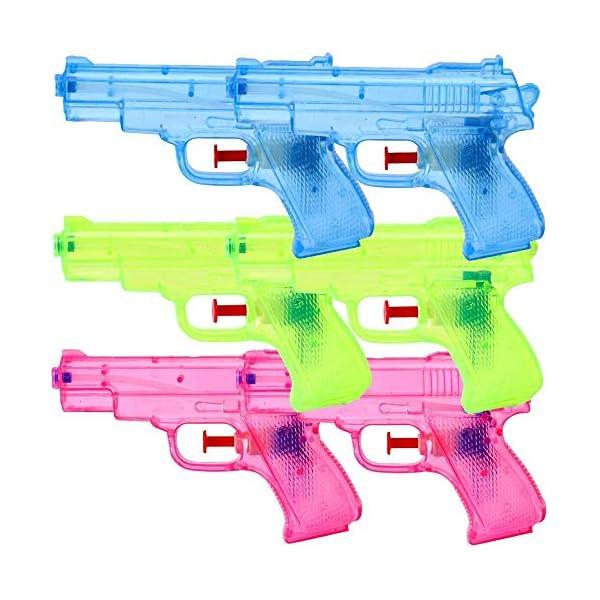 6 Pezzi Pistole d'acqua Pistole a spruzzo Set 13 cm Festa Di Compleanno Bambini Regalo 1 spesavip