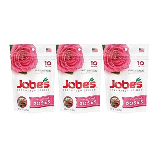 Jobe's Rose Fertilizer Spikes - 3 Pack (Jobes Rose Fertilizer Spikes)