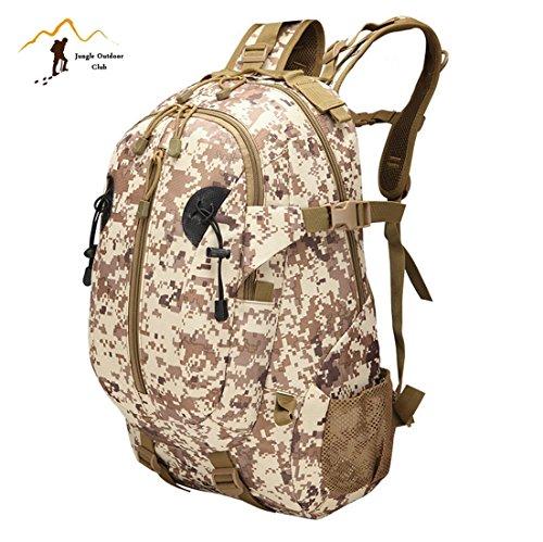 Jungle Oxford 55L 3P zaino Outdoor viaggio zaino molle Big Bag borse camouflage Tactical tasche Wild borsa zaino da escursionismo arrampicata zaino, ACU Digital