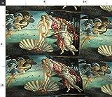 Spoonflower Botticelli Fabric Venus Goddess Angels Classic Art Birth of Venus Nascita Di Venere Print on Fabric by The Yard Petal Signature Cotton for Sewing Quilting Apparel Crafts Decor